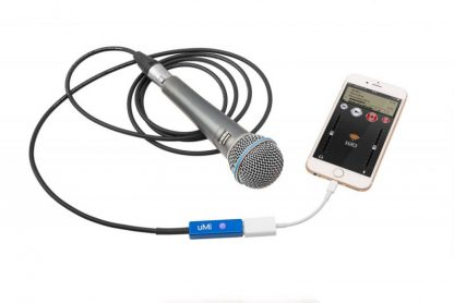 UMI audio interface with LUCI LIVE on iphone for live audio over IP broadcasting.