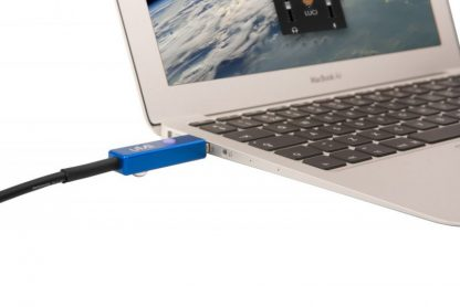 UMI audio interface with LUCI LIVE on Macbook Air for live audio over IP broadcasting.
