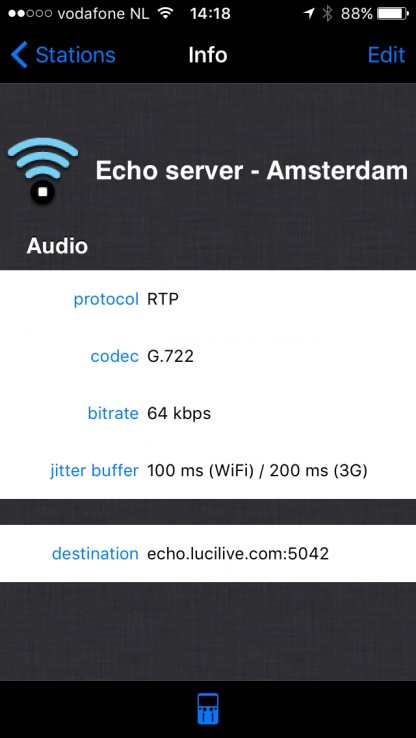 Protocol codecs settings in the LUCI LIVE LITE audio over IP broadcasting software.