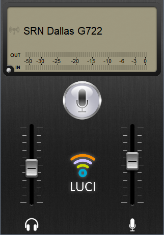 iPhone screenshot of LUCI subscribe Basic live point to point audio over IP subscriptions.