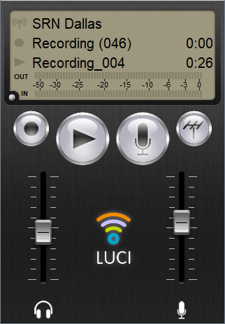 iPhone screenshot of LUCI subscribe Max live point to point audio over IP subscriptions.