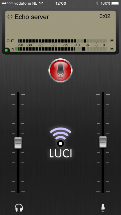 iPhone with LUCI LIVE SE point to point live audio over IP broadcasting software.